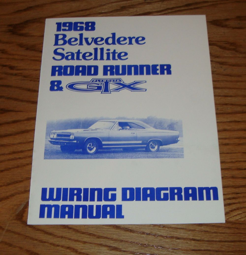 medium resolution of 1968 plymouth belvedere satellite road runner gtx wiring diagram manual 68 1 of 1only 2