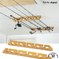 CEILING MOUNT Pole Reel Holder Fishing Rod Rack Organizer ...