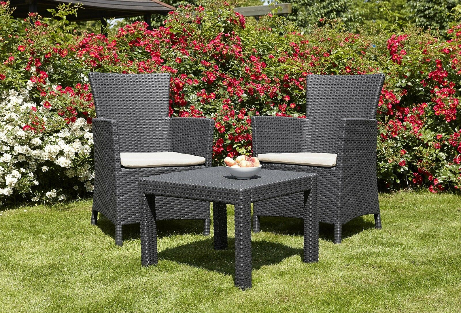 2 chairs and table patio set proper posture desk chair rattan wicker weave garden furniture outdoor