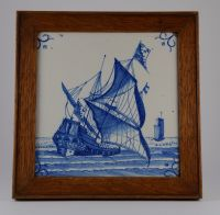 ANTIQUE?/VINTAGE? HAND Painted Delft Ceramic Tile. - 14 ...