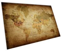 RETRO VINTAGE WORLD MAP WALL ART EXTRA-LARGE A0 POSTER ...