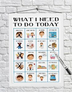 of see more also boys routine chart toddler chores daily visual aid autism adhd rh picclick