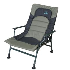 Fishing Chair Heavy Duty Wedding Cover Hire Lincoln Xl Carp Arm Rests Folding Camping Recliner 4