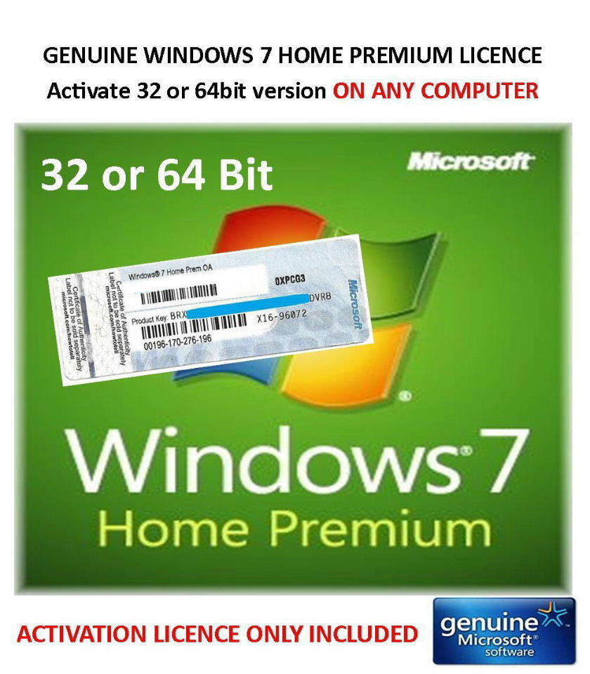 product key of windows 7 home premium 64 bit