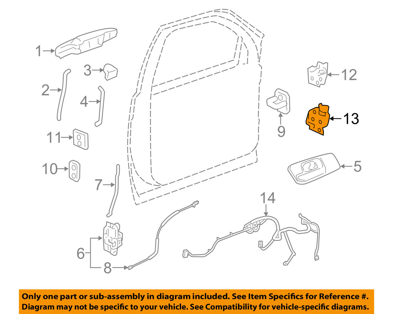 hight resolution of gm oem door hinge lower left 20969645 1 of 2only 2 available