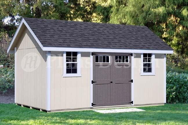 Backyard Storage Shed Plans 1239 X 1639 Gable Roof D1216g