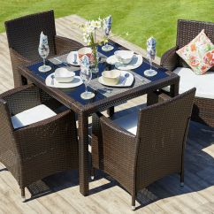 Rattan Garden Dining Chairs Uk Leather Johannesburg Outdoor Furniture Table Set 4