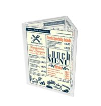 3 Sided 8.5x11 Acrylic Sign Holder Triangle Tabletop ...