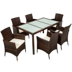 Rattan Garden Dining Chairs Uk Portable Salon Chair 6 Seater Furniture Set 43 Table