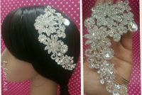 VINTAGE CRYSTAL HAIR Combs Headpiece Bride Wedding Hair ...