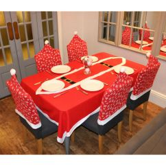 Christmas Chair Covers Ireland Cover Rentals Table Runner Snowflake Pattern Xmas