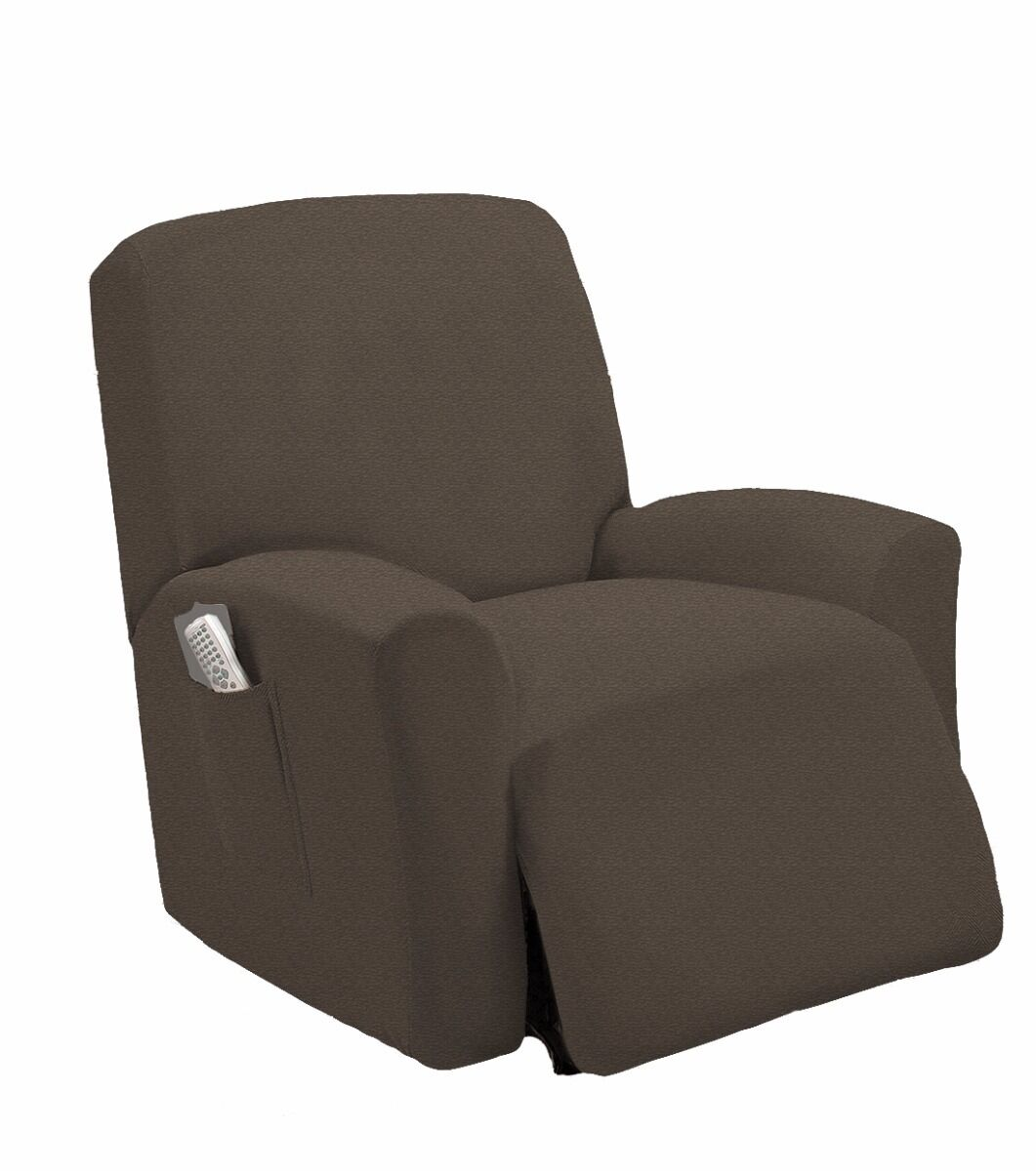 stretch dining chair covers canada skirted parsons chairs room furniture fit mocha recliner slipcover slip cover