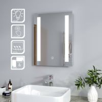 Bathroom Mirror Storage Cabinet Stainless Steel Double