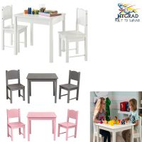 KIDS TABLE AND 2 Chairs Set Childrens Furniture Colourful ...