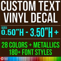 CUSTOM VINYL LETTERING Decal Personalized Sticker Window