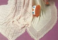 BABY SHAWLS KNITTING Patterns two for the price of one