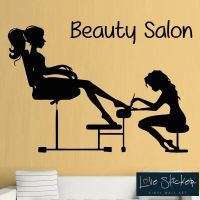 BEAUTY SALON Nails Girls Bedroom Wall Art Stickers Decals