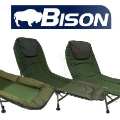 Fishing Bed Chair Used Foldable Papasan Bison Carp Bedchair 34 99 Picclick Uk