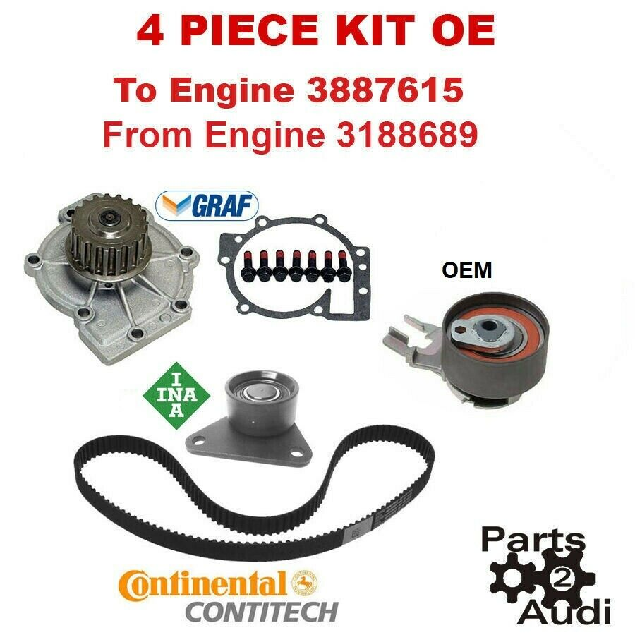hight resolution of oe timing belt water pump kit 4pc for volvo c30 s40 s60 v50 xc70 1 of 1free shipping