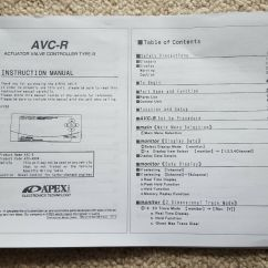 Apexi Avcr Boost Controller Wiring Diagram Warn Winch Contactor Switch And For 80 Avc R Electronic Manual