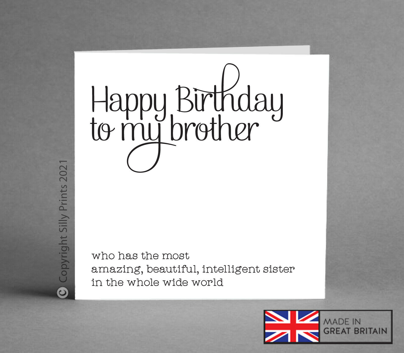BIRTHDAY CARDS FOR Brother From Best Sister Funny Cheeky