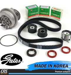 gates htd timing belt kit water pump for 99 08 suzuki forenza reno optra nubira 1 of 5free shipping gates htd timing belt  [ 1600 x 1600 Pixel ]