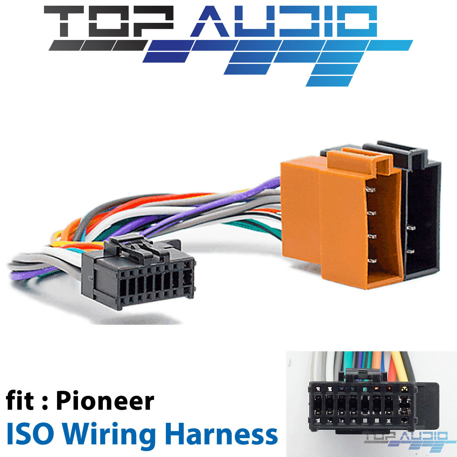hight resolution of pioneer iso wiring harness fit fh x575ui fh x775bt deh x8750bt deh 1 of 4 see more pioneer wiring harness adapters for gm