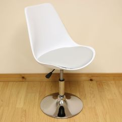 White Swivel Desk Chair Uk Office And Grey Adjustable Tulip Home