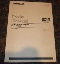 cat caterpillar 3116 truck engine parts book manual s n 8wl1 up 1 of [ 1600 x 1200 Pixel ]