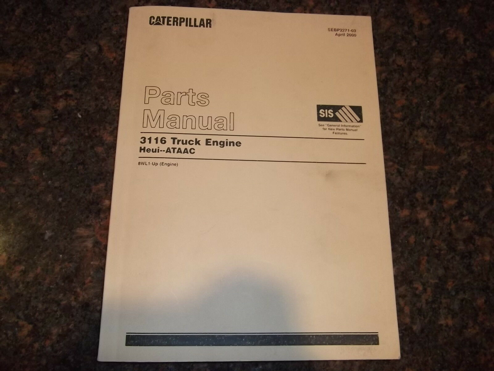 hight resolution of cat caterpillar 3116 truck engine parts book manual s n 8wl1 up 1 of