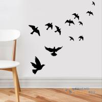 DIY Flying Birds Art Wall Stickers Vinyl Removable Decals ...