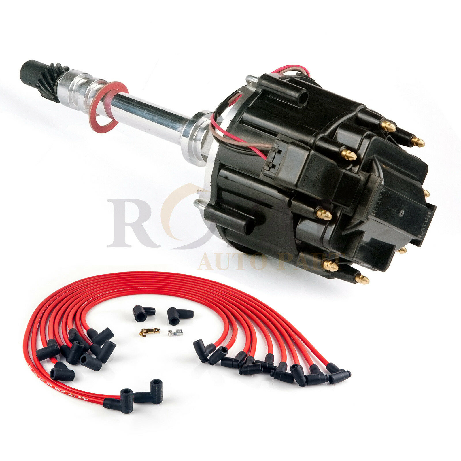 hight resolution of new chevy sbc 283 305 327 350 400 hei black distributor spark plug wires kit 1 of 11free shipping