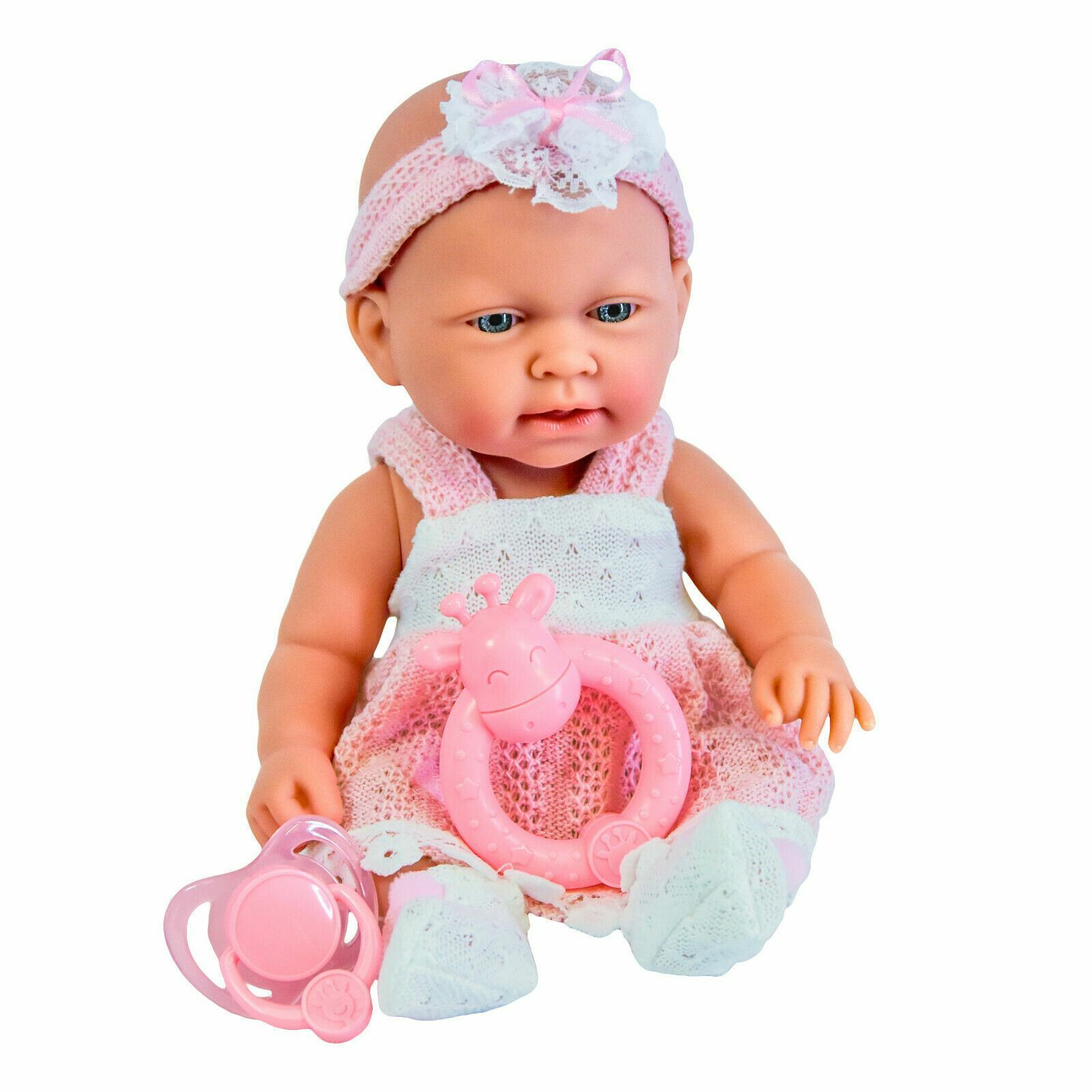 10& Pink Baby Doll Play Set with Feeding Accessories Milk