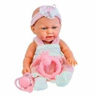 10& Pink Baby Doll Play Set with Feeding Accessories Milk ...