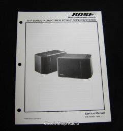 original bose 301 series iv direct reflecting speaker system service manual 1 of 1only 1 [ 1524 x 1600 Pixel ]