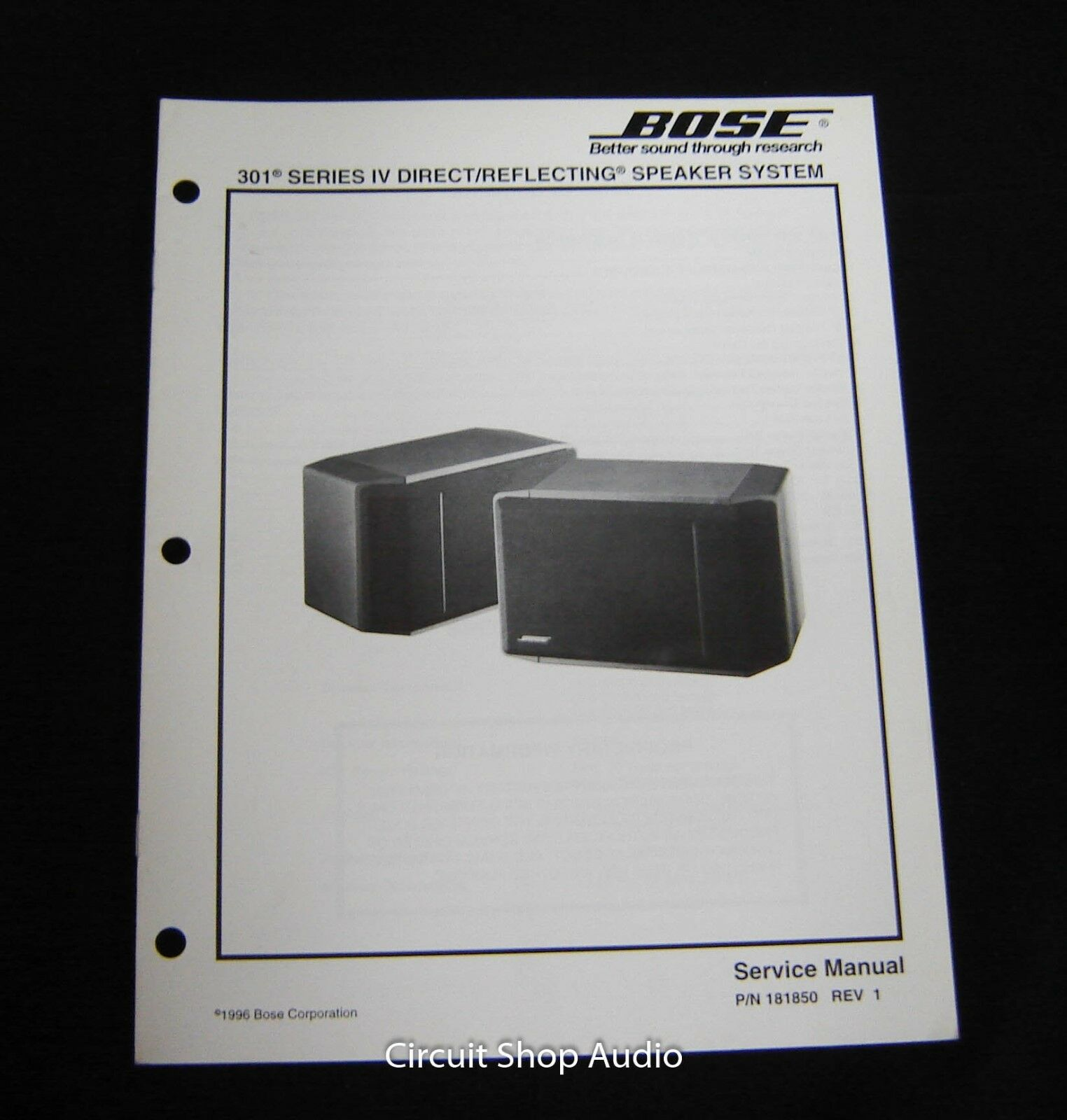 hight resolution of original bose 301 series iv direct reflecting speaker system service manual 1 of 1only 1