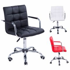 Swivel Chair Ireland Fishing And Accessories Office Pu Leather Adjustable Computer Desk