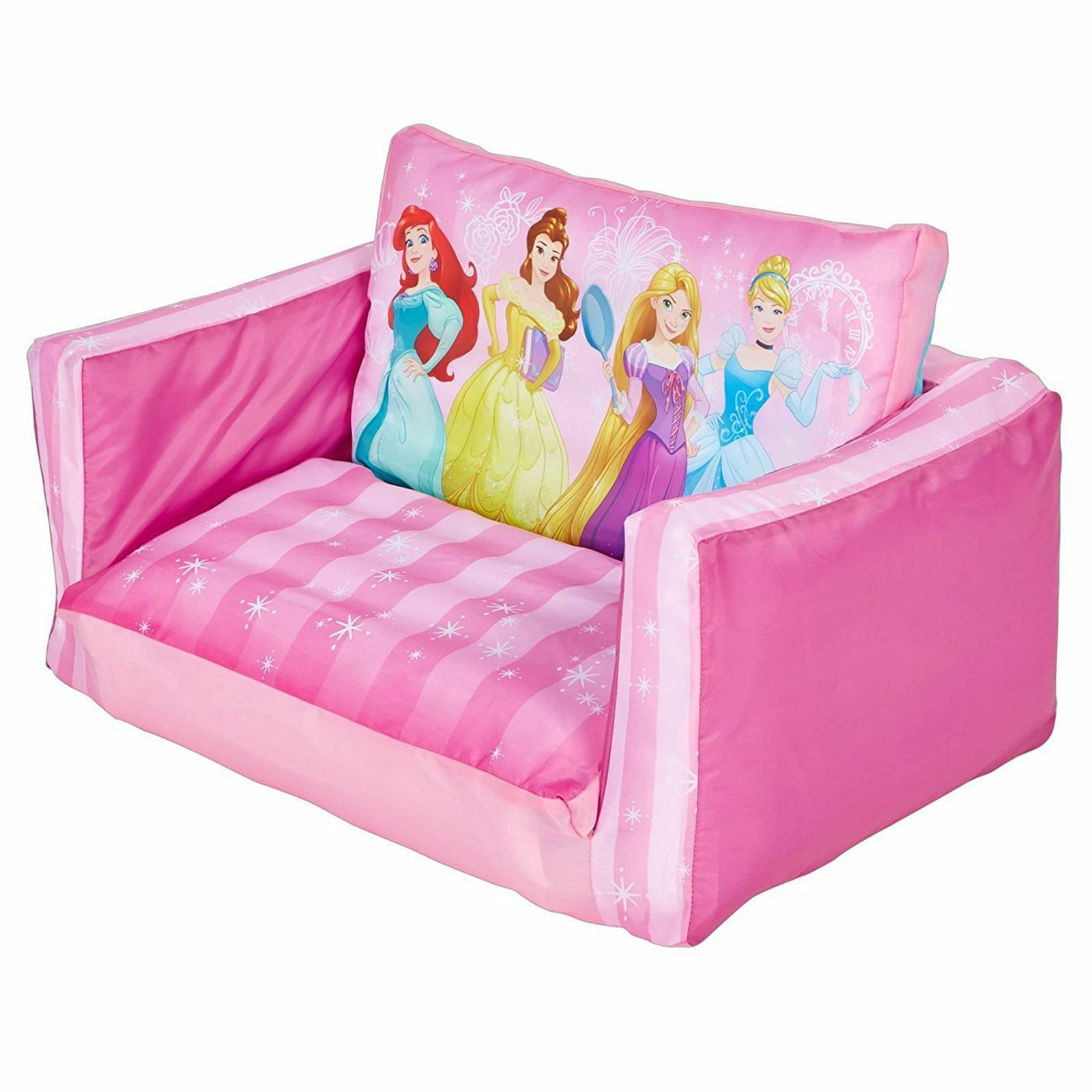 disney princess flip out sofa fabric reclining sectional sofas kids inflatable belle
