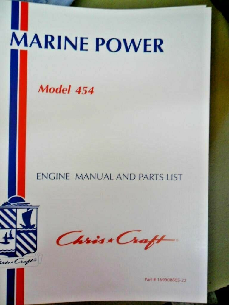 hight resolution of chris craft marine power engine manual and parts list 454 cc pt no 169908805 22 1 of 1 see more