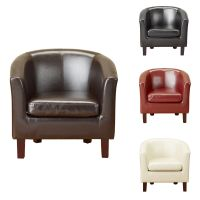 LUXURY BONDED LEATHER Tub Chair Armchair for Dining Living ...