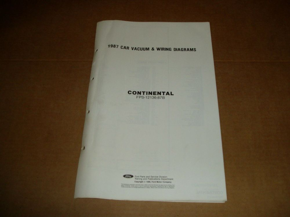 medium resolution of 1987 lincoln continental wiring diagram sheet service shop manual 1 of 2