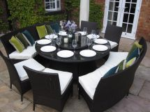 Round Dining Table Seats 10
