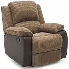 Lounge Chair Material How Much Does It Cost To Ship A Postana Brown Jumbo Cord Fabric Recliner Armchair Sofa