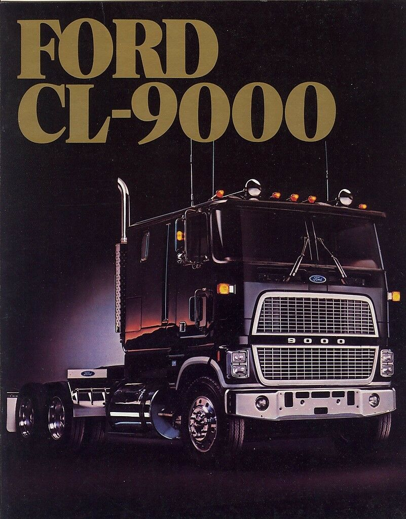 hight resolution of 1984 ford cl 9000 clt 9000 trucks dealer sales brochure 1 of 1only 3