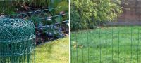 DECORATIVE GARDEN BORDER Metal Wire Fence - Landscape Yard ...