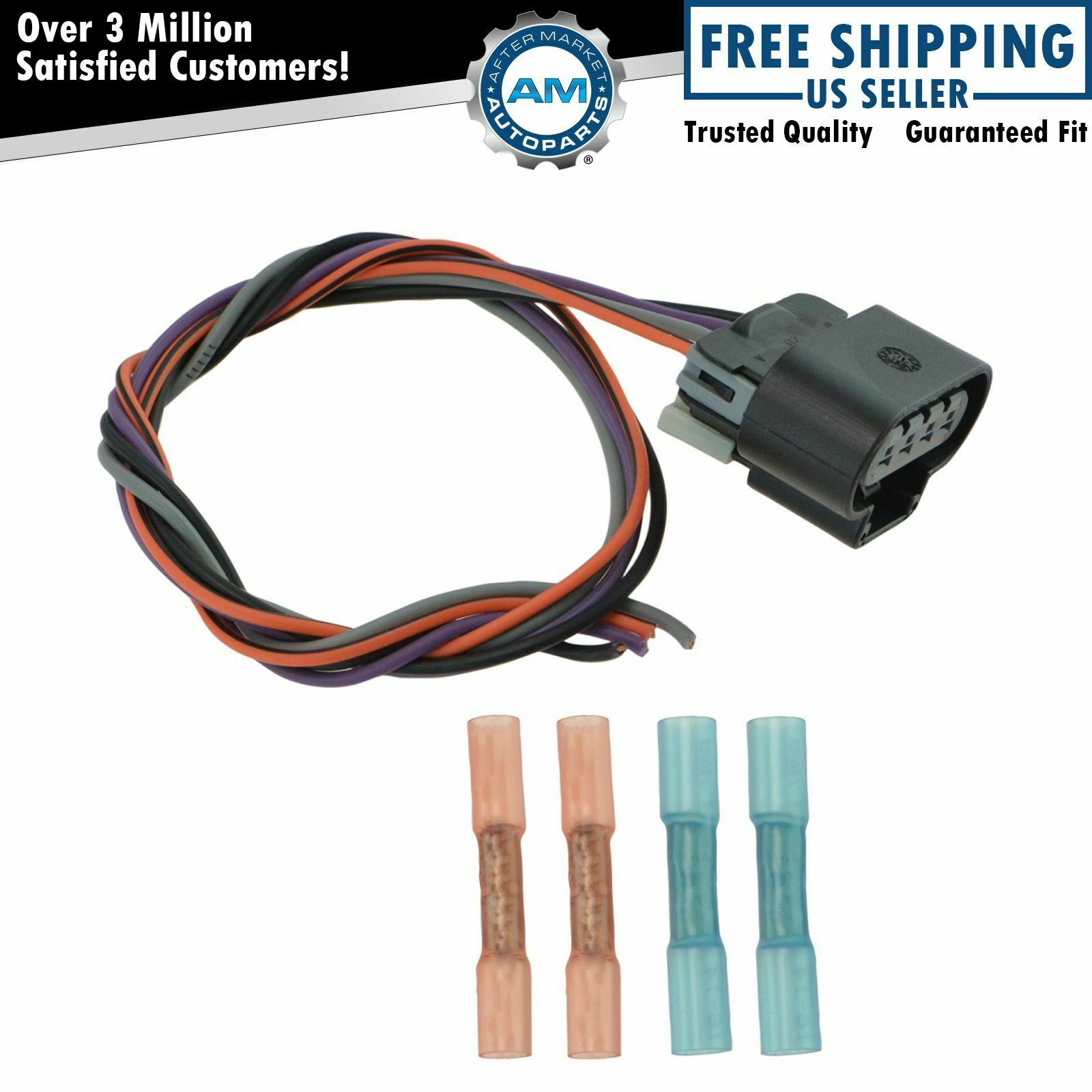 hight resolution of delphi fa10003 fuel pump wiring harness connector oval plug for chevy gmc new 1 of 5only 1 available