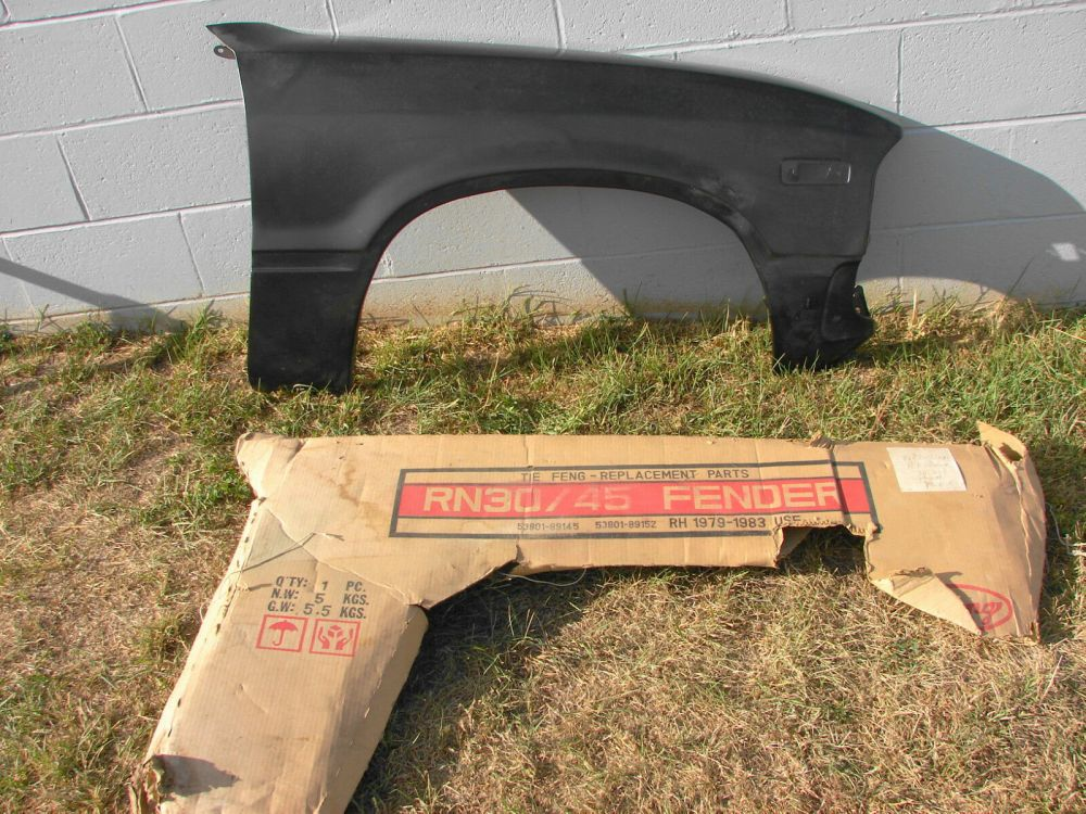 medium resolution of 82 83 toyota 2wd truck nos rh fender 1 of 5only 1 available