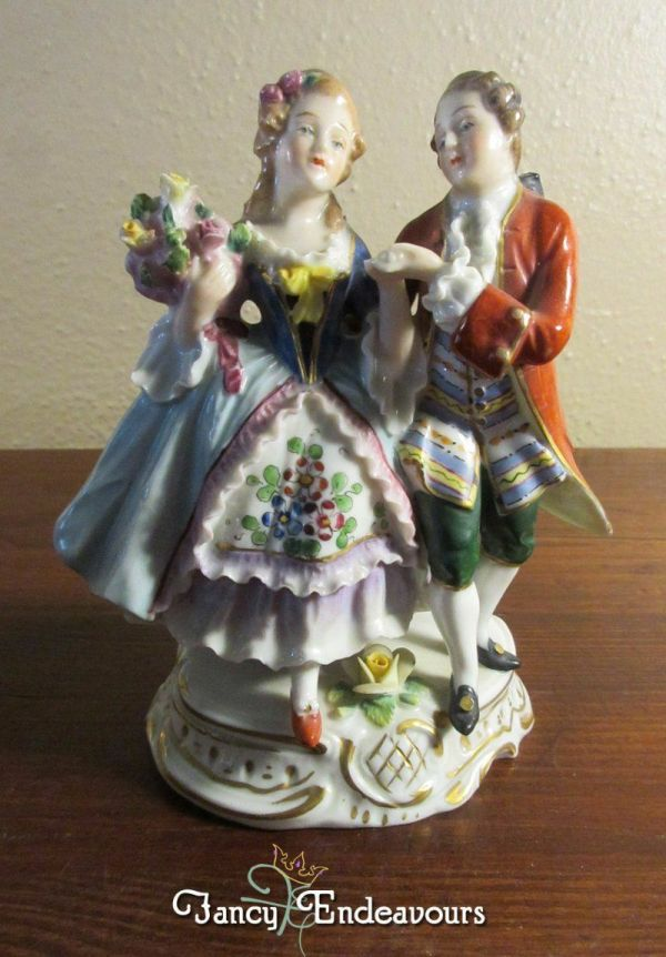 Sitzendorf Dresden Antique Porcelain Figurine Man And