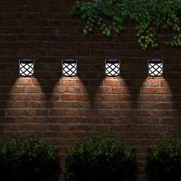6 X Solar Powered Outdoor Garden Shed Door Fence Wall Led ...