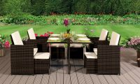 CUBE RATTAN GARDEN Furniture Set Chairs Sofa Table Outdoor ...